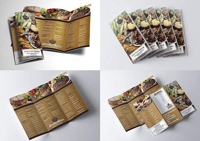 تصميم بروشور مفتوح psd جاهز للتعديل تصميم مطعم 2