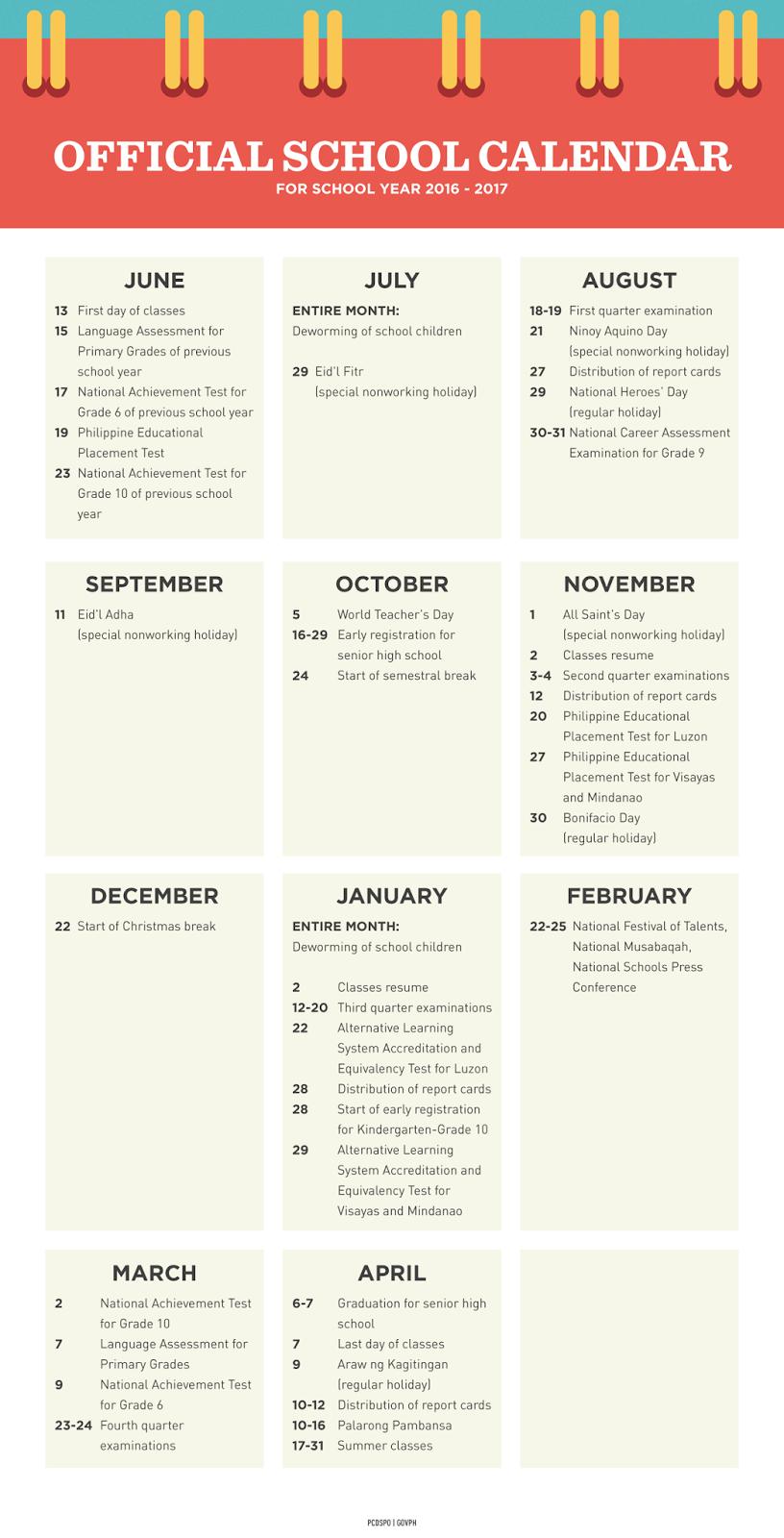 school calendar 2017 2018 philippines pdf