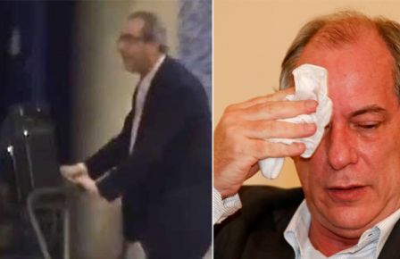 Ciro defende Cunha por sapatadas em Aeroporto mas exige prisão de deputado cassado