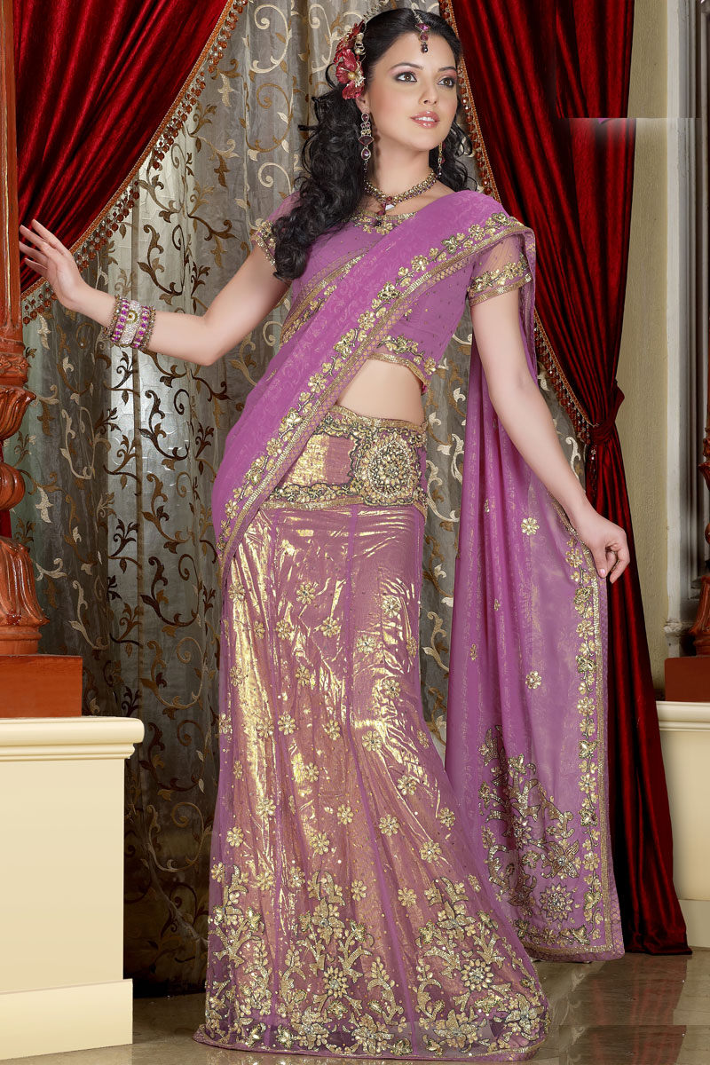 lehenga saree styles latest sarees choli wear designer indian designs bride lehnga sister blouse lehengas embroidered bridal trends dresses suits