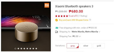 Shopee Xiaomi Bluetooth speakers