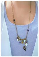 collier féerique bronze vieilli et indigo