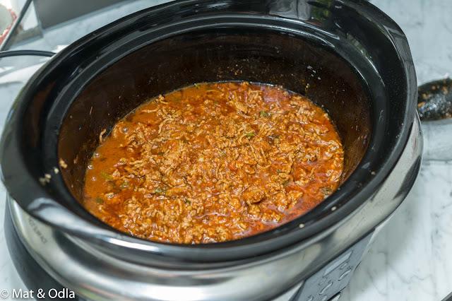 köttfärsås i Crock-Pot