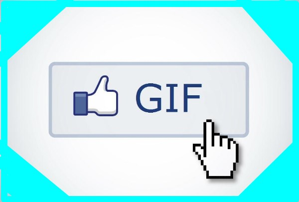 How can I share a gif on facebook