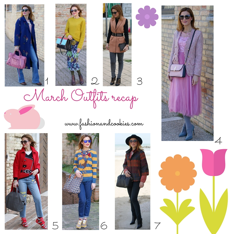 March outfits recap to welcome april on Fashion and Cookies fashion blog, fashion blogger style