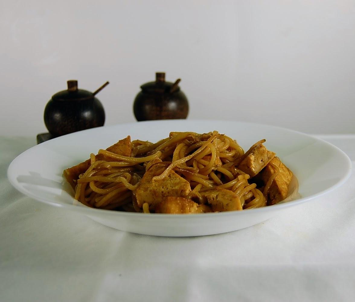 Rezept Gebratene Nudeln mit Tofu in der Hoisin Sauce