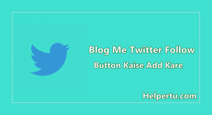 twitter follow button widget for blogger blog