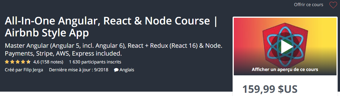 Chia Sẻ Khóa Học All-In-One Angular, React & Node Course Airbnb