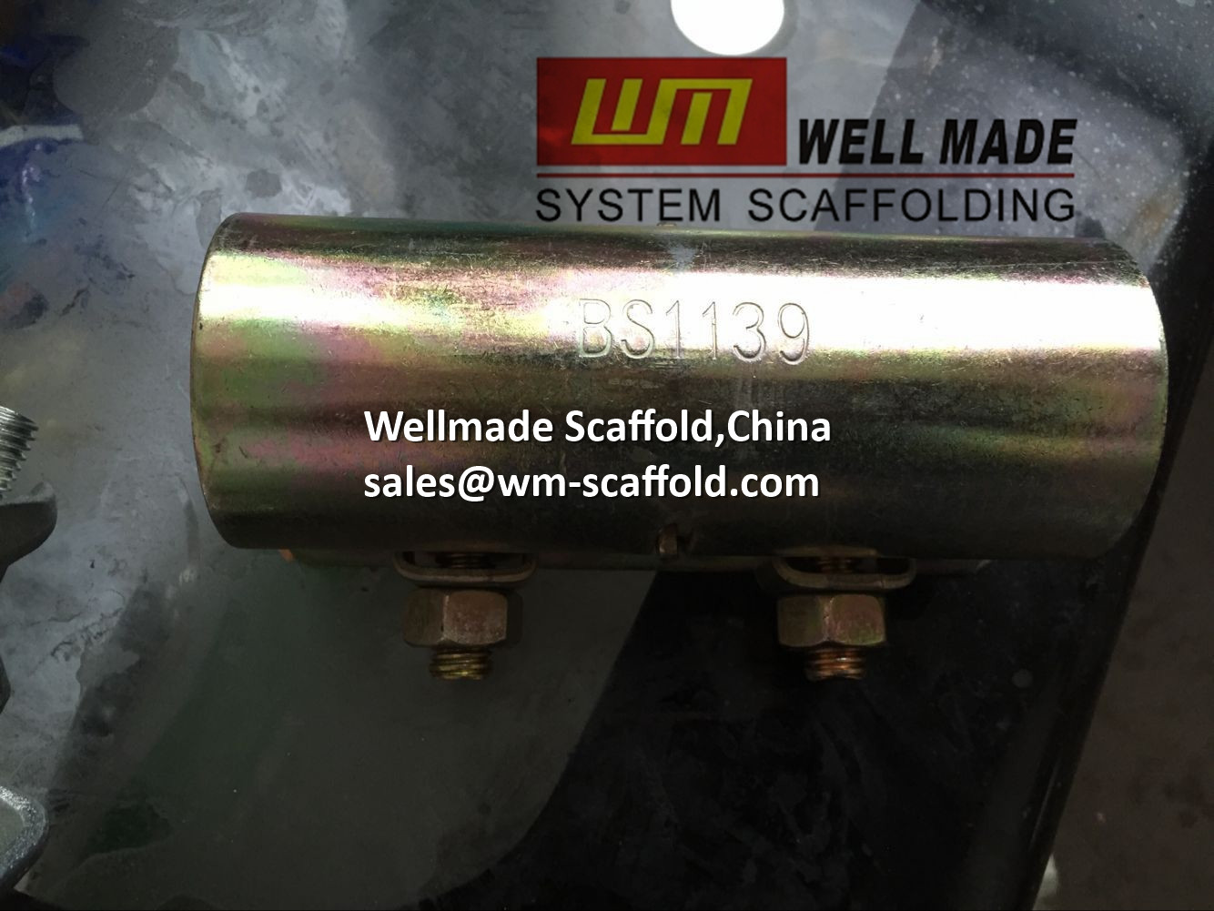 Pressed Steel Coupler : Pressed steel sleeve coupler joint for od mm