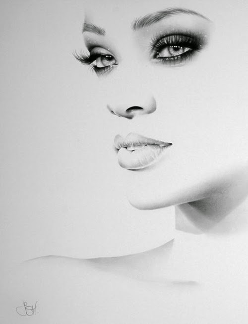 09-Rihanna-Ileana-Hunter-Recognise-Portrait-Drawings-Detail-www-designstack-co