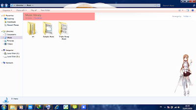 Theme Anime Windows 7 Yuuki Asuna from Sword Art Online 4