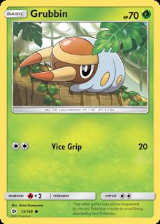 Grubbin Sun and Moon Pokemon Card