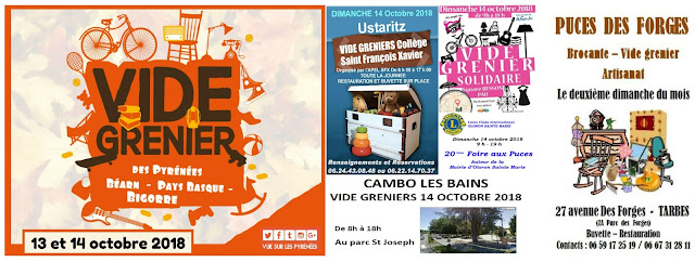 Vide greniers Pyrénées 2018 Octobre #2