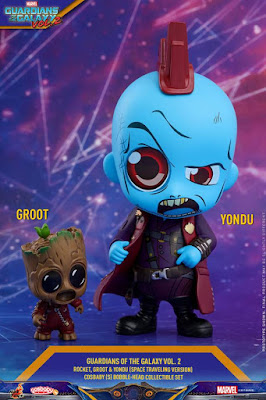 Guardians of the Galaxy Vol. 2 Space Traveling Edition Cosbaby Set by Hot Toys x Marvel - Rocket Raccoon, Groot & Yondu