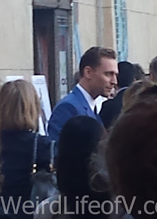 Tom Hiddleston being interviewed