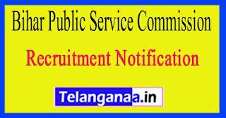 Bihar Public Service Commission BPSC Recruitment Notification 2017