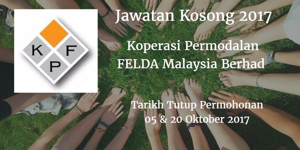 Jawatan Kosong Koperasi Permodalan FELDA Malaysia Berhad  05 & 20 Oktober 2017