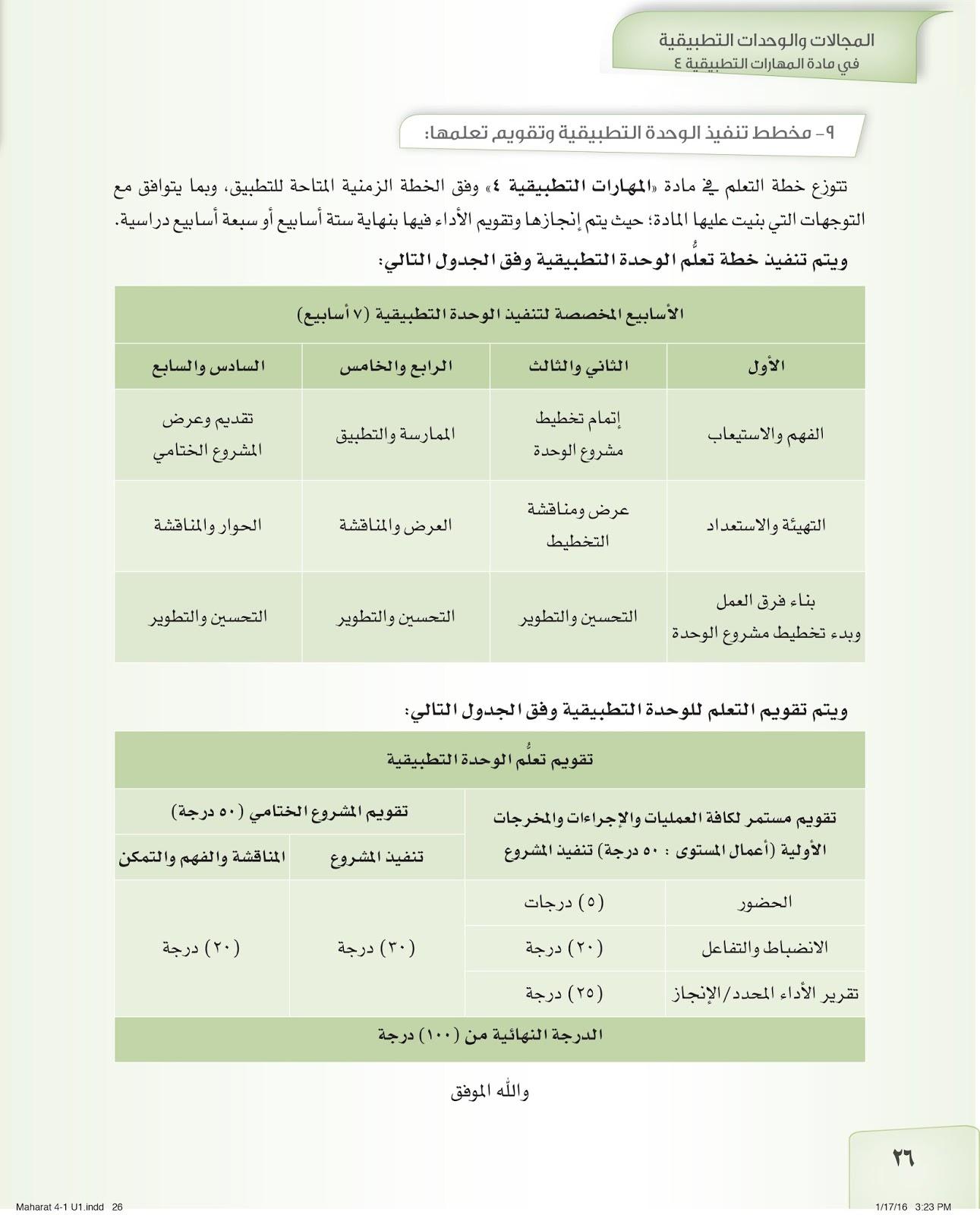 المهارات التطبيقية للمستوى الرابع طلاب المستوى الرابع مادة المهارات التطبيقية الأسبوع الأول الثاني