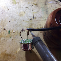 Soldering the positive wire