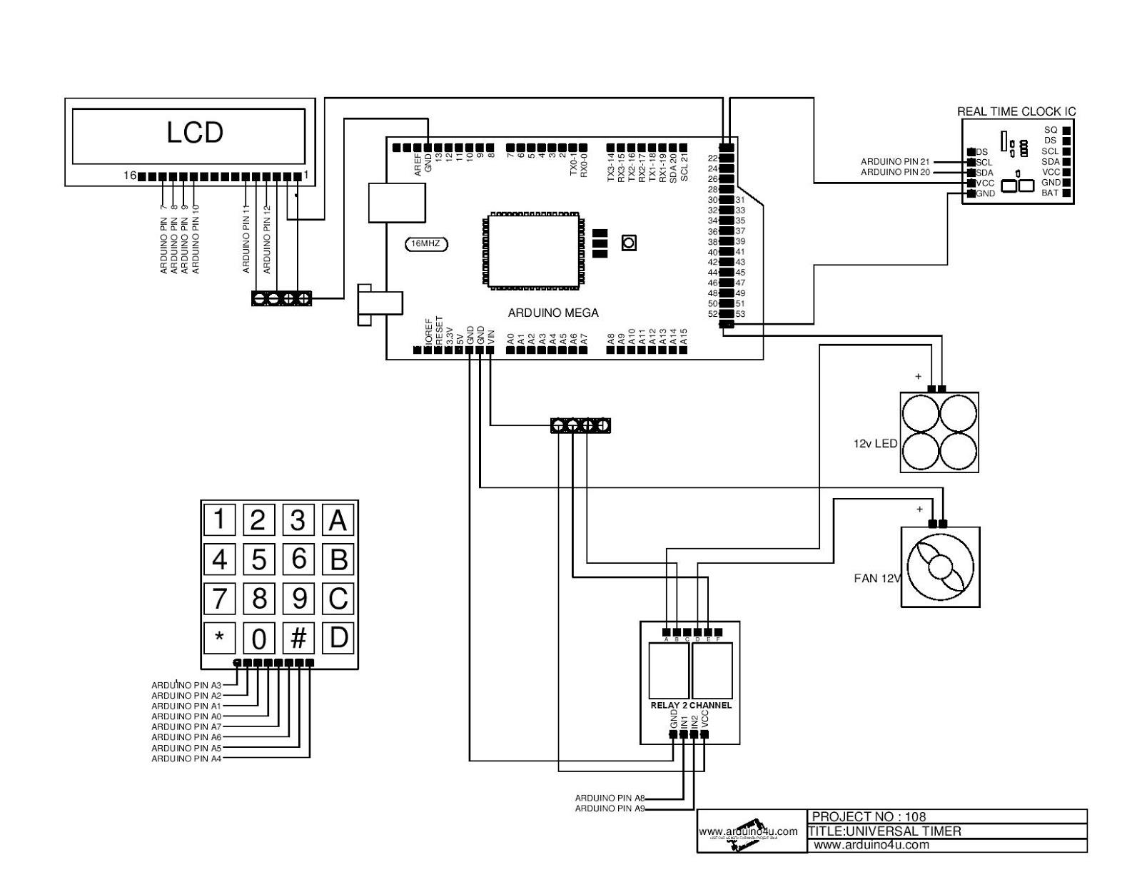 Projek Elektronik Arduino4u 108 Universal Timer