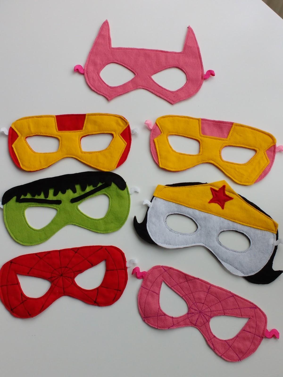 ich brauch stoff !!!: Superhelden Party-Masken