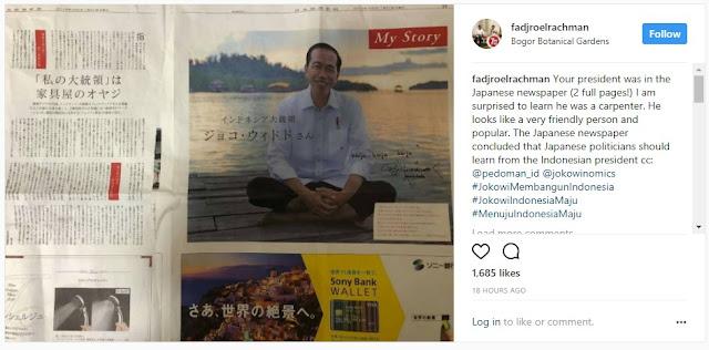Presiden Jokowi Dimuat di Media Jepang, Fadjroel Rachman: Politisi Jepang Harus Banyak Belajar Dari Jokowi