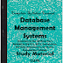 Database Management Systems (DBMS) Study Materials cum Notes PDF E-Books Free Download