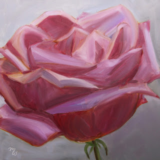 Sarah original oil painting of a rose by Merrill Weber