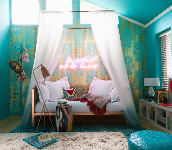 Get The Look Bohemian Cool A Girl S Room Mimosa Lane