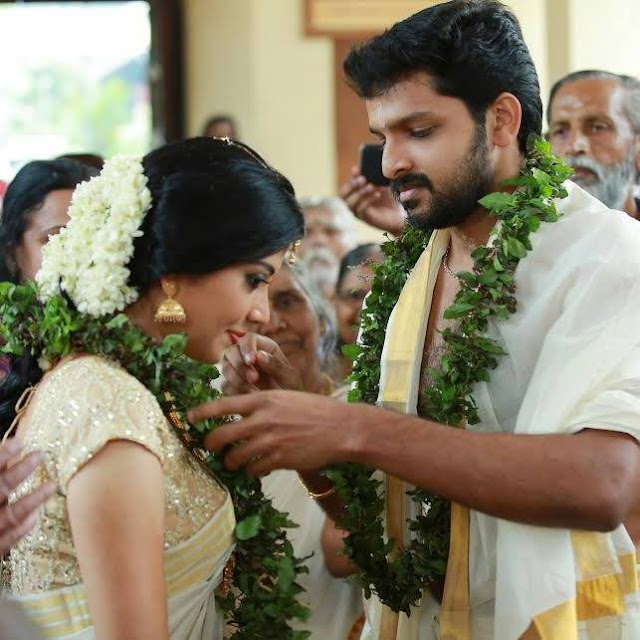 Actress Shivada Nair married  actor Murali Krishnan
