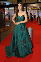 Raashi Khanna in Dark Green Sleeveless Strapless Deep neck Gown at 64th Jio Filmfare Awards South ~  Exclusive 146.JPG