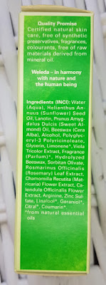 Weleda Skin Food ingredients