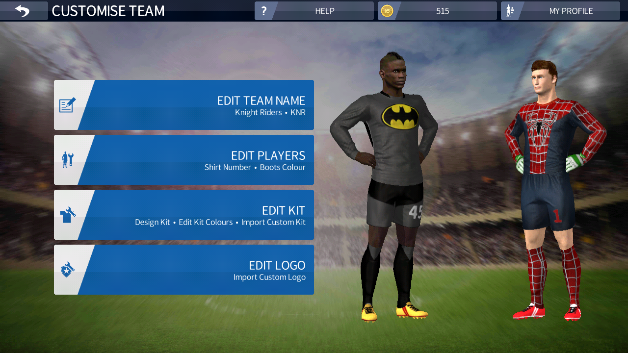 2e8ff0a0e How To Add Custom Superhero Kits In Dream League Soccer Android Game ...