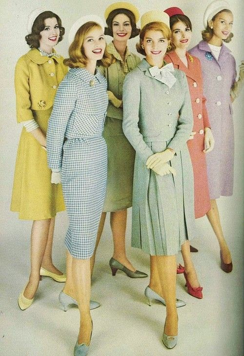 Colourful 60s fashion