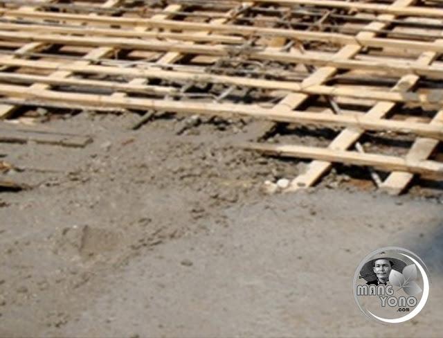 Tulangan Beton / Rigid Pavement Menggunakan Bambu