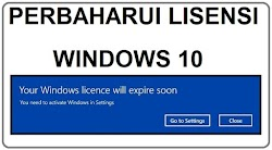 Tutorial Memperbaharui Key Lisensi Windows 10 Pro