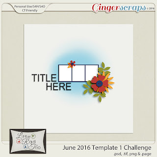 June 2016 - Template Challenge1 by Little Rad Trio