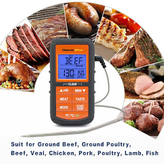 ThermoPro TP06S Multifunctional Digital Instant Read Smoker Cooking Meat Thermometer