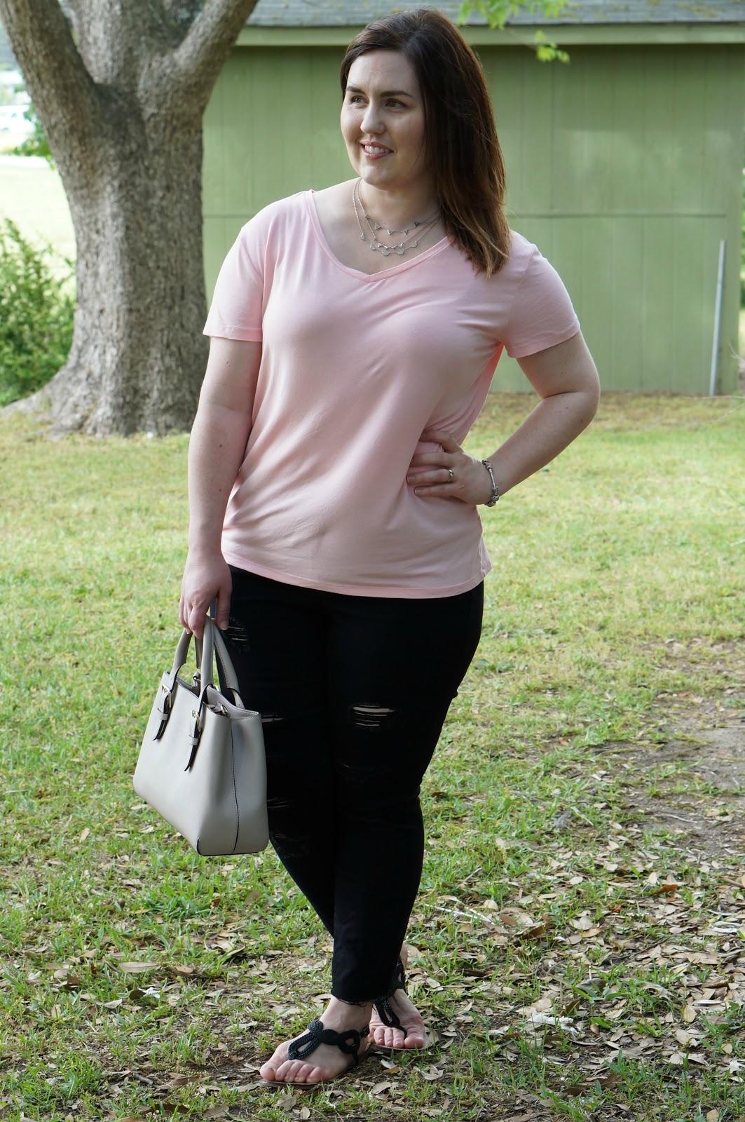 North Carolina Style Blogger Rebecca Lately Pink