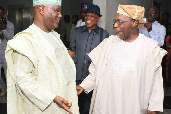 Obasanjo Gets A Message: Atiku should drop Obi or lose 2019