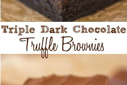Triple Dark Chocolate Truffle Brownies