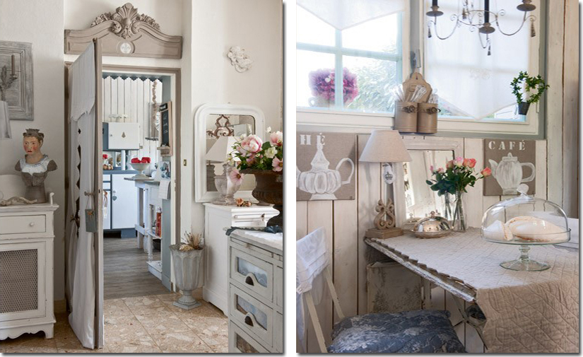 Una casa dove il grigio vi sorride shabby chic interiors for Case shabby chic country