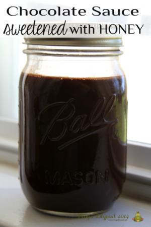 Chocolate Sauce Sweetened with Honey