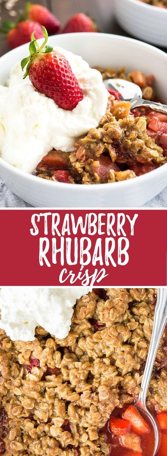 Easy Strawberry Rhubarb Crisp