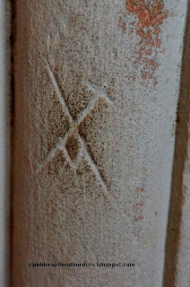 Marking on one of the pillar, Rosslyn Chapel