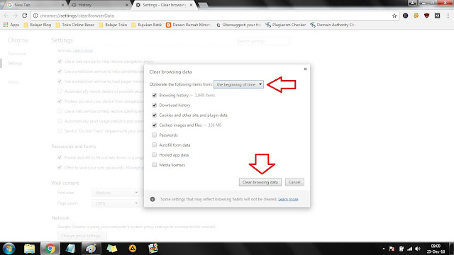 Cara Membersihkan Cached Google Chrome
