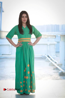 Actress Raashi Khanna Latest Picture Shoot Gallery in Green Long Dress  0011