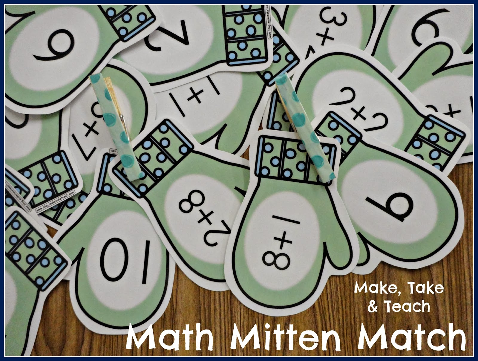 Mitten Match Activity For Addition