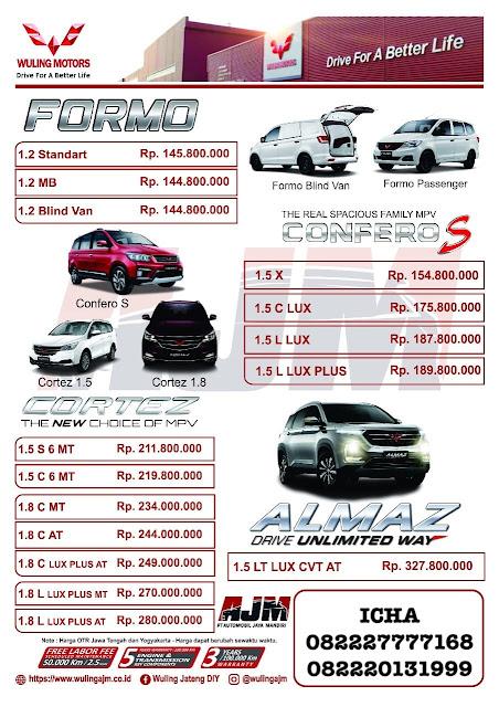 harga mobil wuling semarang 2019