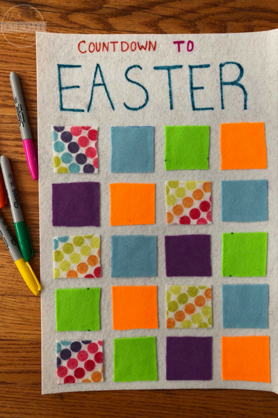 Easter Countdown - This fun, easy to make, Easter activity for kids, families, preschool, kindergarten, first grade, 2nd grade, 3rd grade, 4th grade and more.